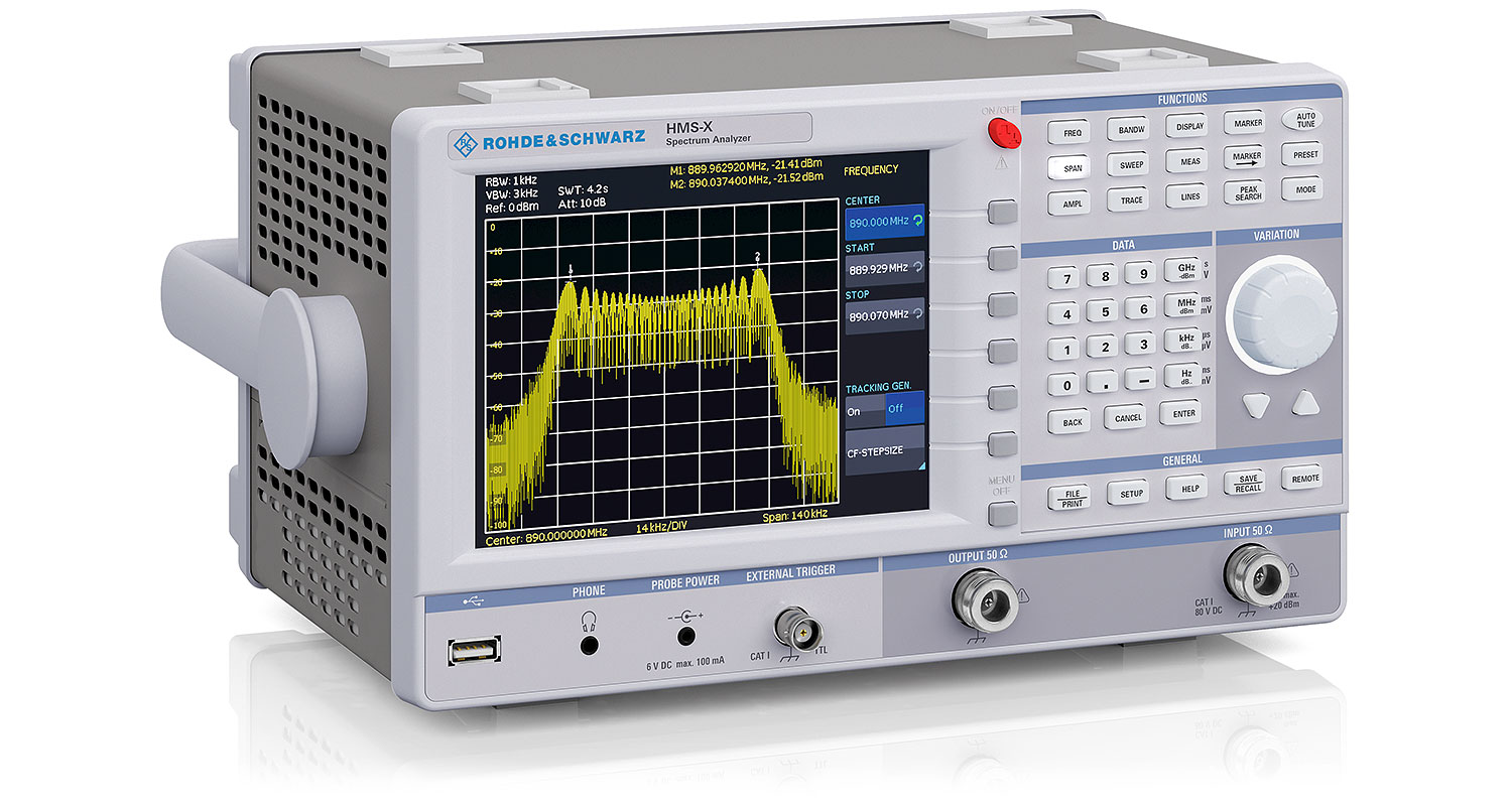 R&S HMS-X serie spectrum analyzer