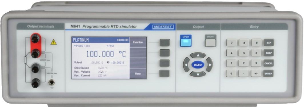 Meatest M641 programmeerbare RTD simulator