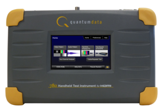 De 780 portable video test tool van Quantum Data
