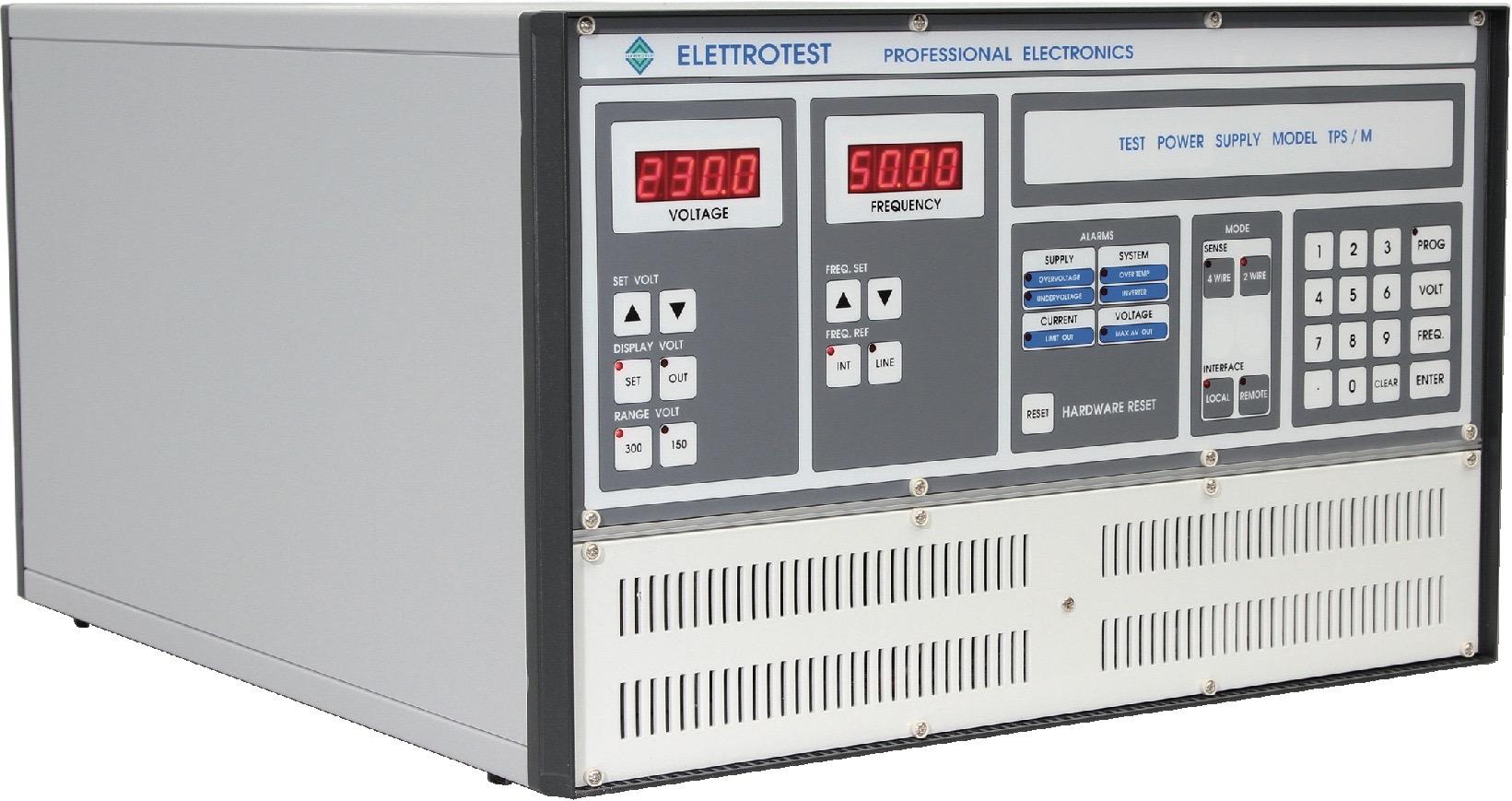 Elettrotest TPS serie enkelfase AC voedingen