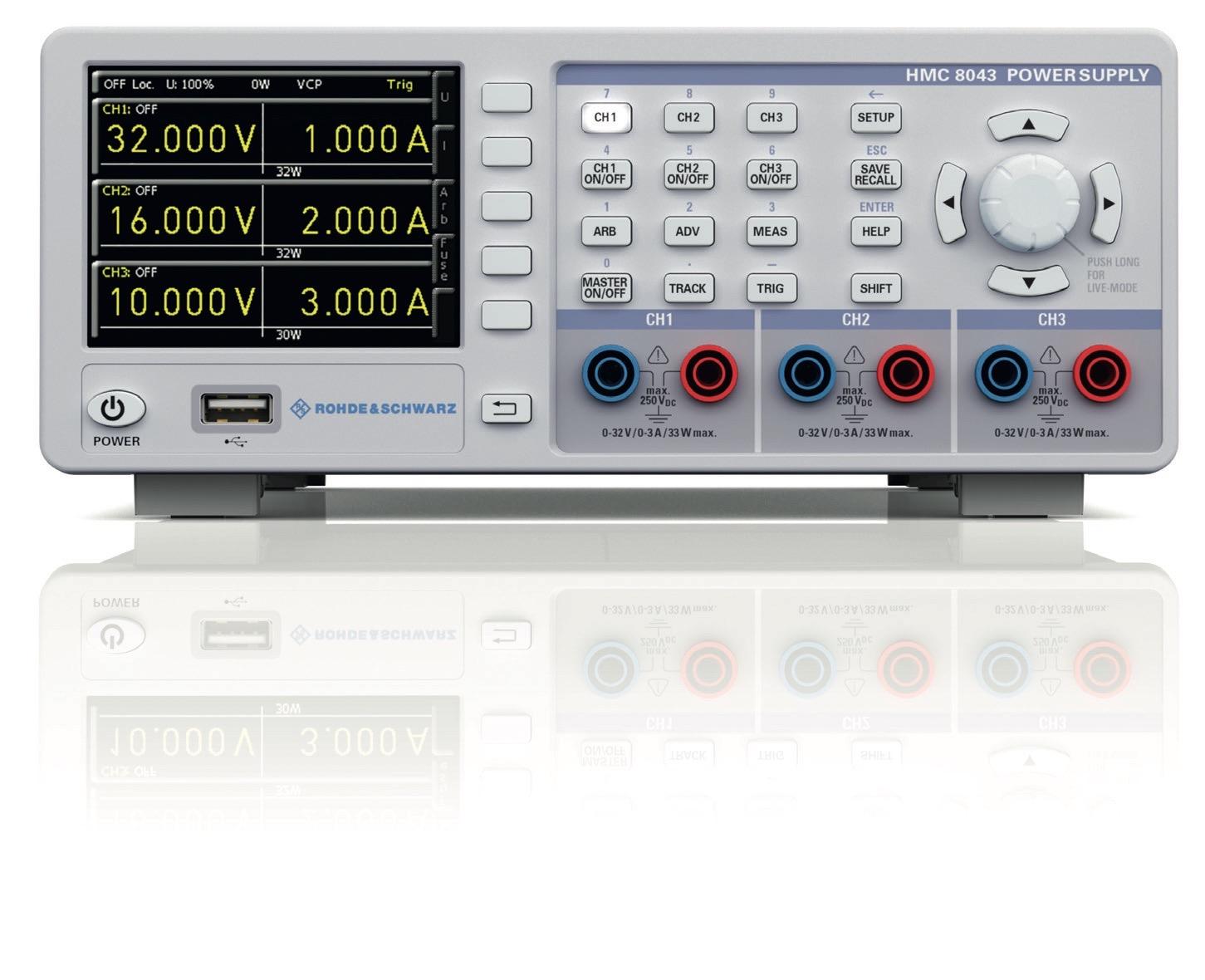 R&S HMC804X serie programmeerbare DC voedingen