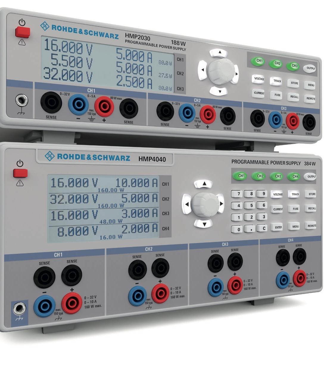 HMP serie DC voedingen van Rohde & Schwarz