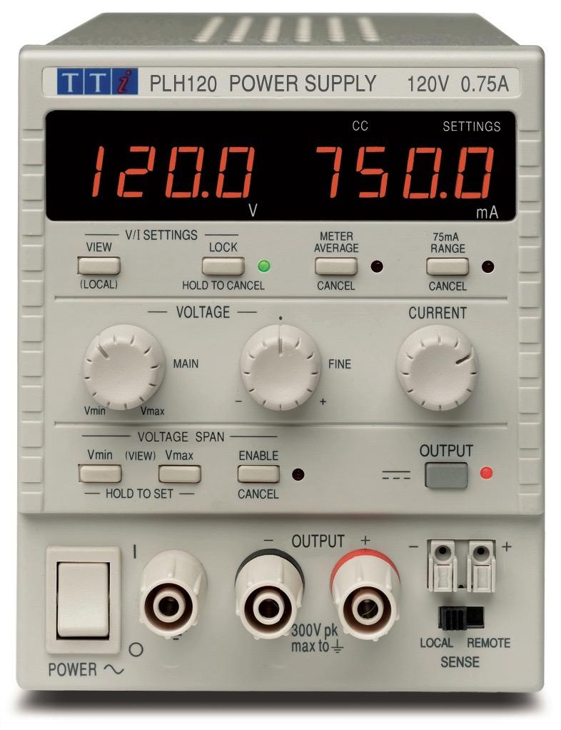 PLH serie DC voedingen van Thurlby Thandar Instruments Ltd.
