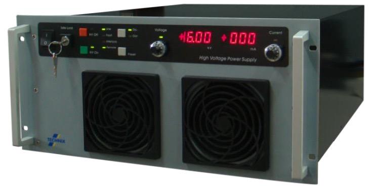 Technix SR serie DC  5 kW – 10 kW  hoogspannings (HV) voedingen