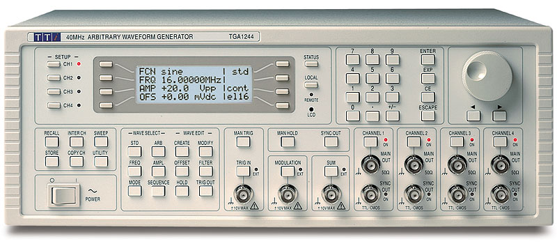 Aim-TTi TGA1200 serie functiegeneratoren