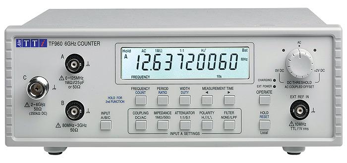 TF960 Universal Counter van Aim-TTi