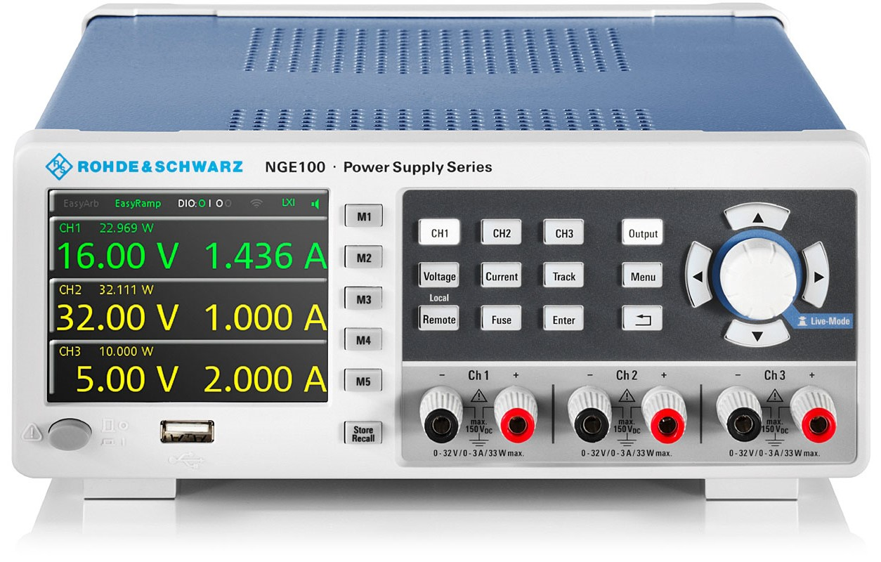 R&S NGE100 serie power supplies