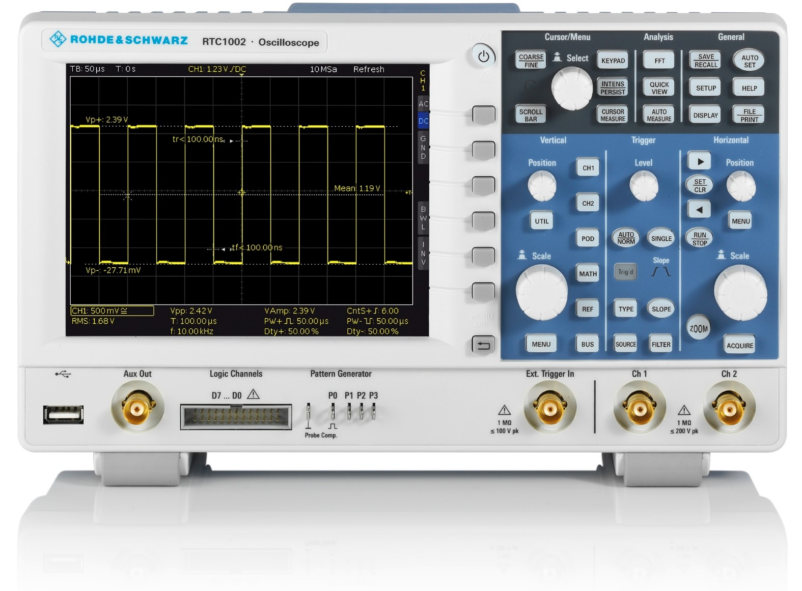 RTC1000 serie digitale oscilloscopen van Rohde & Schwarz