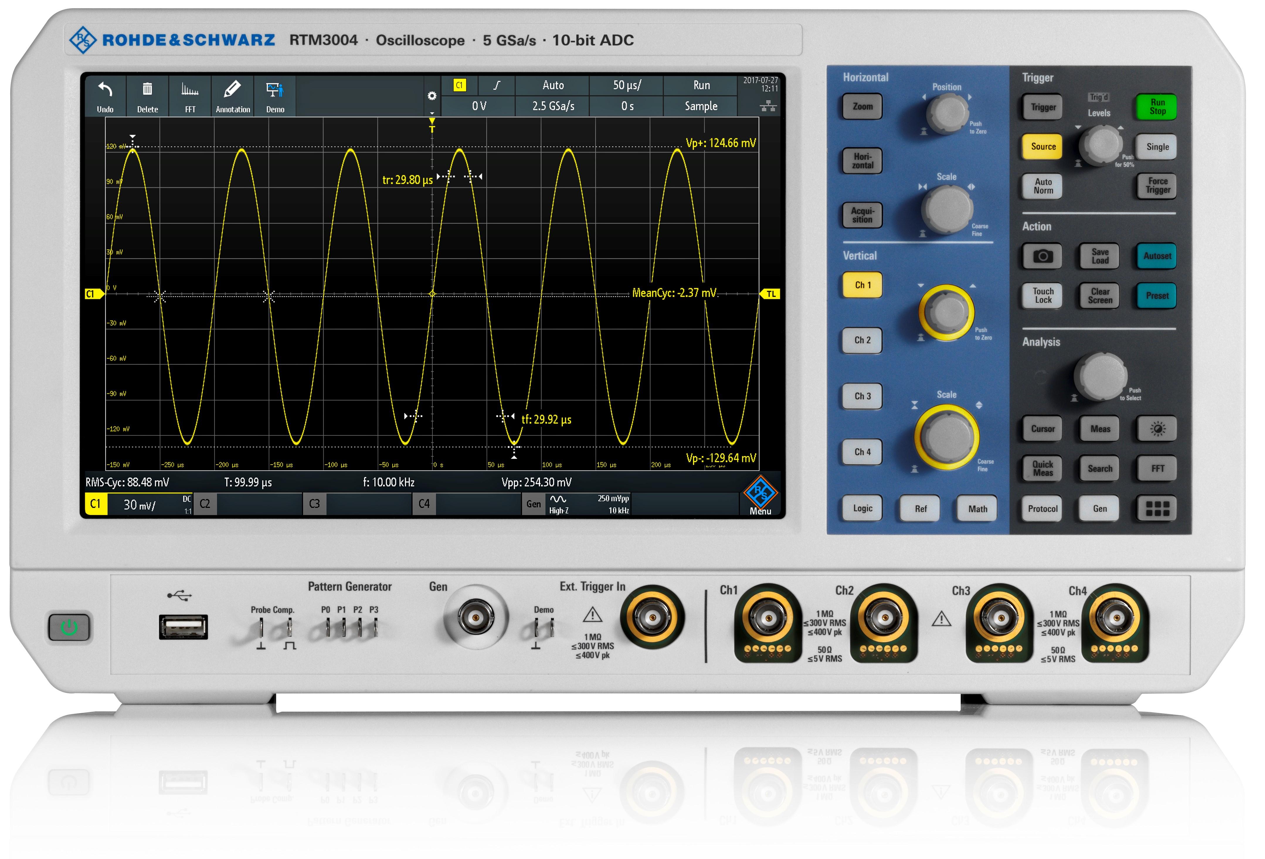 RTM3000 serie digitale oscilloscopen van Rohde & Schwarz