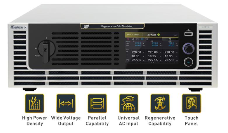 Chroma 61815 Regenerative AC Grid Simulator